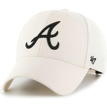 Casquette courbée crème snapback Atlanta Braves MLB MVP 47 Brand