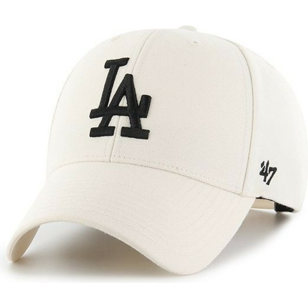 casquette-courbee-creme-snapback-los-angeles-dodgers-mlb-mvp-47-brand