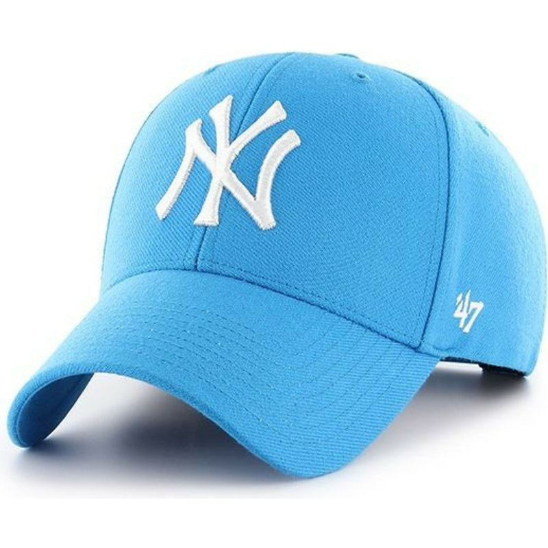 casquette-courbee-bleue-glacier-snapback-new-york-yankees-mlb-mvp-47-brand