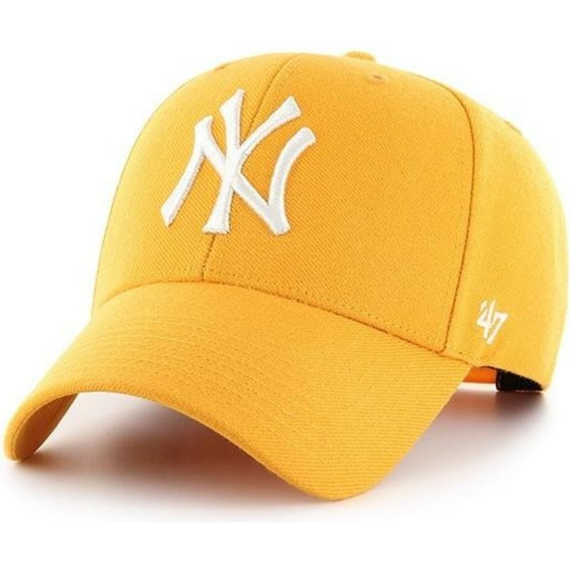 casquette-courbee-jaune-or-snapback-new-york-yankees-mlb-mvp-47-brand