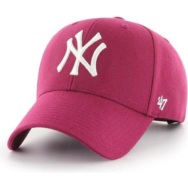 casquette-courbee-rose-galaxy-snapback-new-york-yankees-mlb-mvp-47-brand