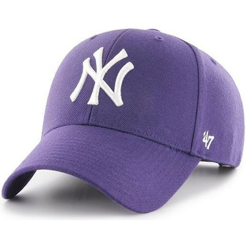 casquette-courbee-violette-snapback-new-york-yankees-mlb-mvp-47-brand