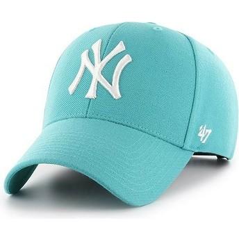 Casquette courbée verte turquoise snapback New York Yankees MLB MVP 47 Brand