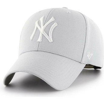 Casquette courbée grise argent snapback New York Yankees MLB MVP 47 Brand