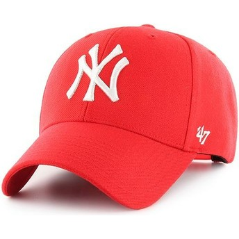Casquette courbée rouge snapback New York Yankees MLB MVP 47 Brand