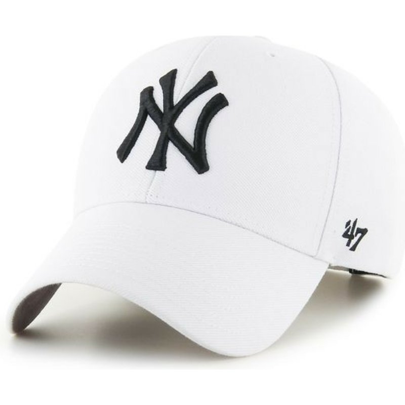 casquette-courbee-blanche-snapback-new-york-yankees-mlb-mvp-47-brand