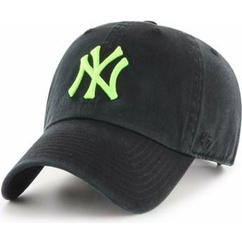 Casquette courbée noire avec logo vert New York Yankees MLB Clean Up 47 Brand
