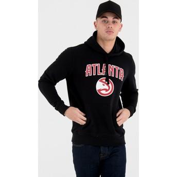 Sweat à capuche noir Pullover Hoody Atlanta Hawks NBA New Era