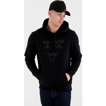 Sweat à capuche noir avec logo noir Pullover Hoody Chicago Bulls NBA New Era