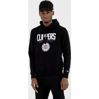 Sweat à capuche noir Pullover Hoody Los Angeles Clippers NBA New Era