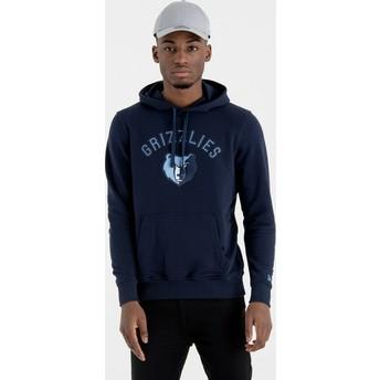 Sweat à capuche bleu marine Pullover Hoody Memphis Grizzlies NBA New Era