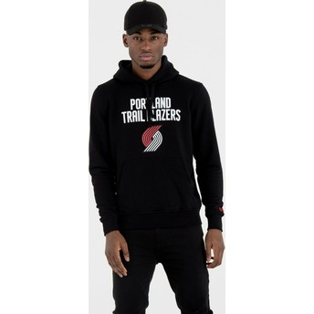 Sweat à capuche noir Pullover Hoody Portland Trail Blazers NBA New Era