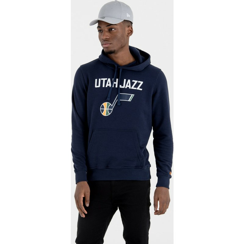 sweat-a-capuche-bleu-marine-pullover-hoody-utah-jazz-nba-new-era