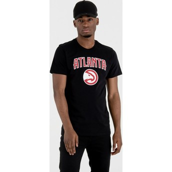 T-shirt à manche courte noir Atlanta Hawks NBA New Era