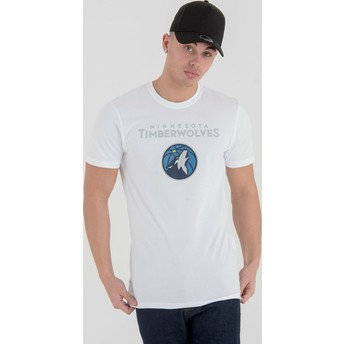 T-shirt à manche courte blanc Minnesota Timberwolves NBA New Era