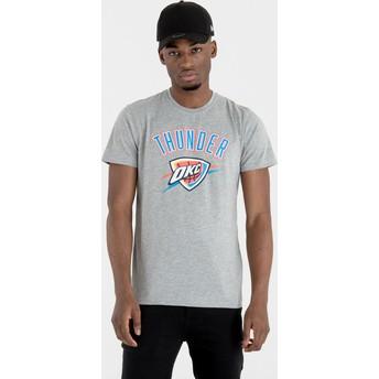 T-shirt à manche courte gris Oklahoma City Thunder NBA New Era