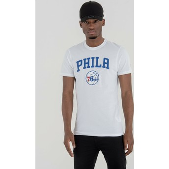 T-shirt à manche courte blanc Philadelphia 76ers NBA New Era