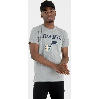 T-shirt à manche courte gris Utah Jazz NBA New Era