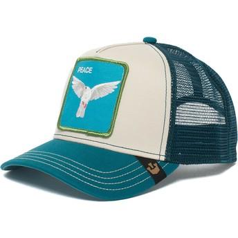 Casquette trucker bleue et blanche pigeon Peace Keeper Goorin Bros.