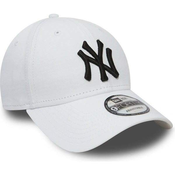 casquette-courbee-blanche-ajustable-9forty-essential-new-york-yankees-mlb-new-era