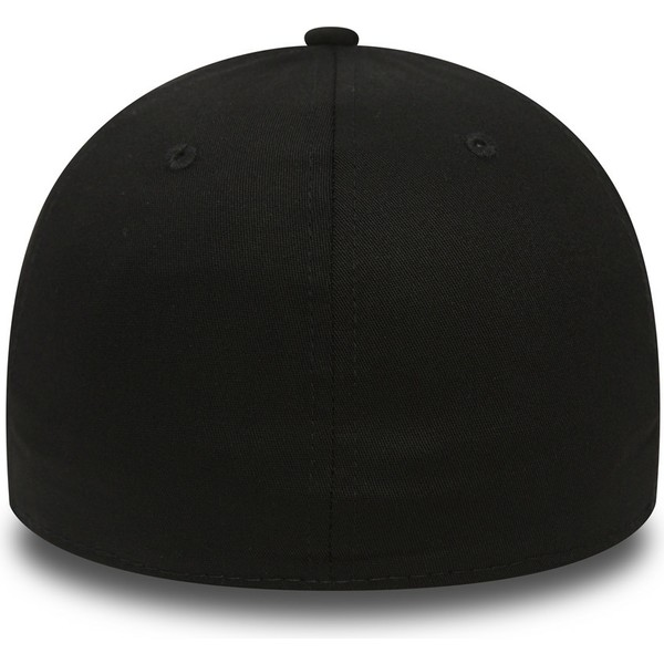 casquette-courbee-noire-ajustee-avec-logo-noir-39thirty-essential-los-angeles-dodgers-mlb-new-era