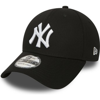 Casquette courbée noire ajustée 39THIRTY Classic New York Yankees MLB New Era