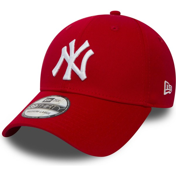 casquette-courbee-rouge-ajustee-39thirty-classic-new-york-yankees-mlb-new-era