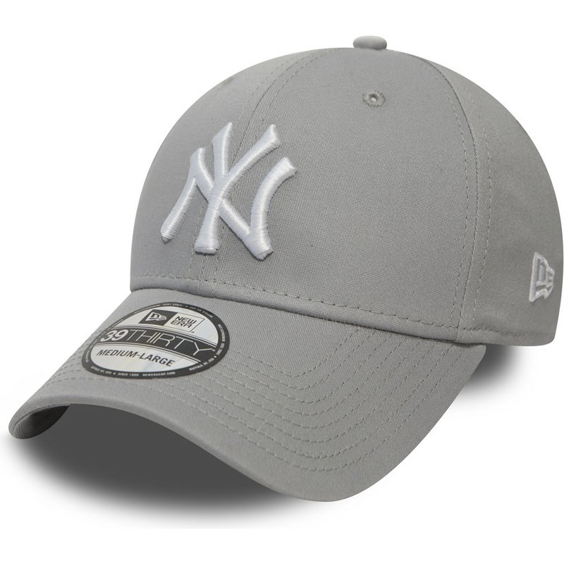 casquette-courbee-grise-ajustee-39thirty-classic-new-york-yankees-mlb-new-era