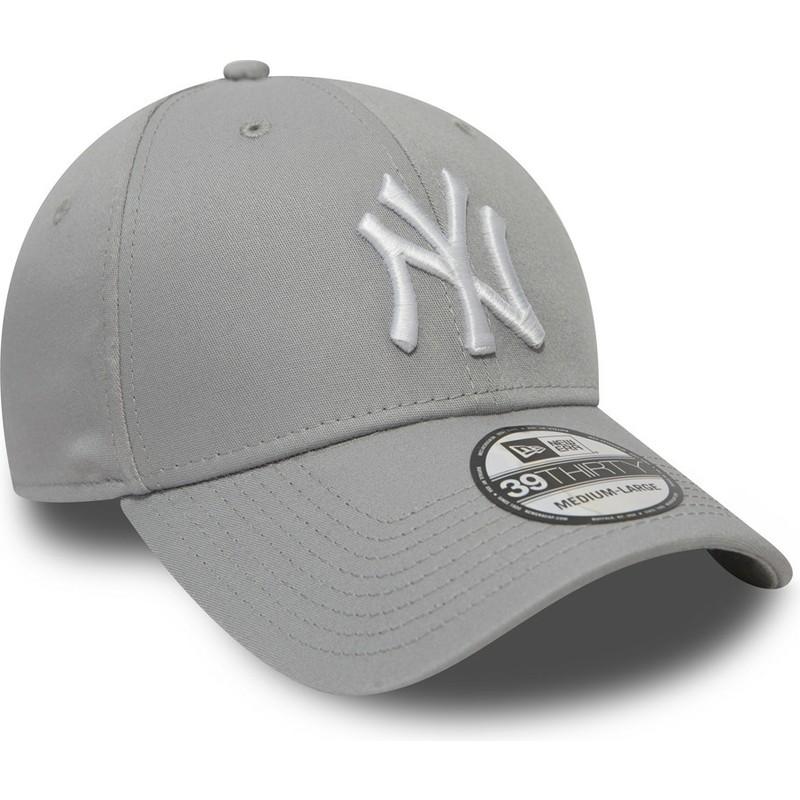 6fdc76d55dce3 Casquette courbée grise ajustée 39THIRTY Classic New York Yankees ...