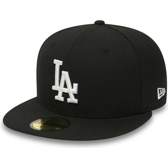 Casquette plate noire ajustée 59FIFTY Essential Los Angeles Dodgers MLB New Era