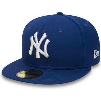 Casquette plate bleue ajustée 59FIFTY Essential New York Yankees MLB New Era
