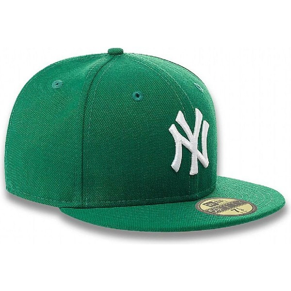 casquette-plate-verte-ajustee-59fifty-essential-new-york-yankees-mlb-new-era
