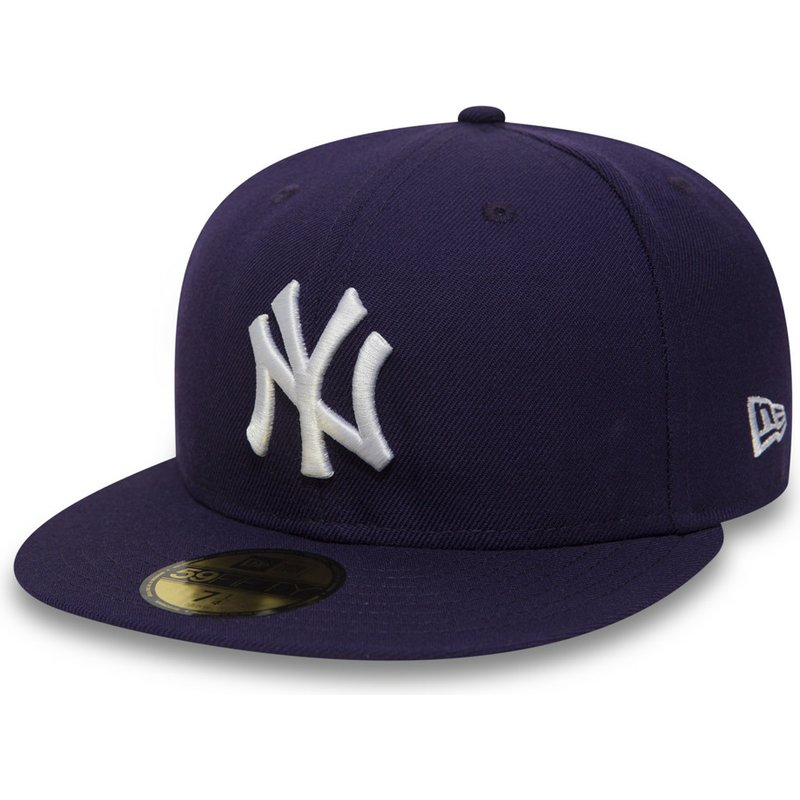 casquette-plate-violette-ajustee-59fifty-essential-new-york-yankees-mlb-new-era