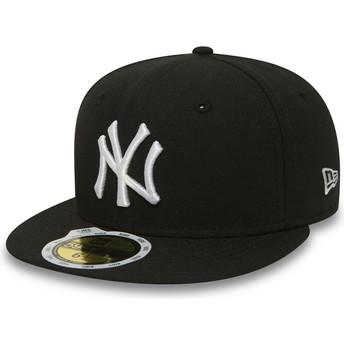 Casquette plate noire ajustée pour enfant 59FIFTY Essential New York Yankees MLB New Era