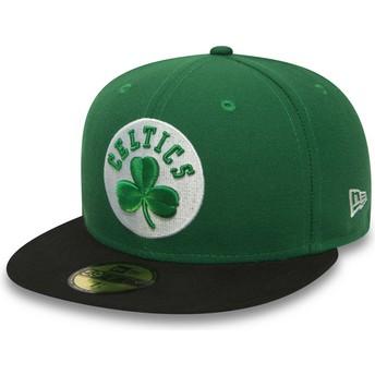 Casquette plate verte ajustée 59FIFTY Essential Boston Celtics NBA New Era