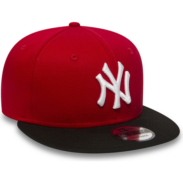 casquette-plate-rouge-snapback-9fifty-cotton-block-new-york-yankees-mlb-new-era