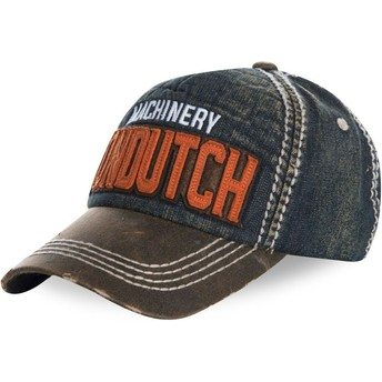 Casquette courbée bleue denim ajustable DONALD01 Von Dutch
