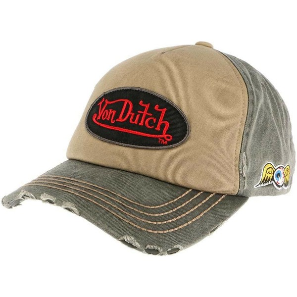 casquette-courbee-marron-et-verte-ajustable-lars02-von-dutch