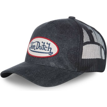 Casquette courbée bleue marine denim ajustable MC92B Von Dutch