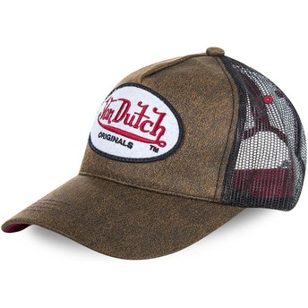 Casquette trucker marron OG Von Dutch
