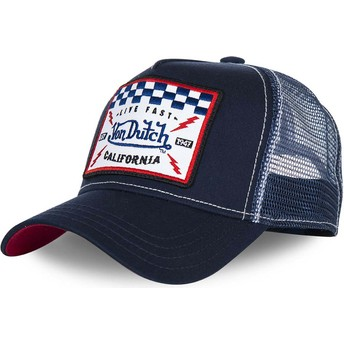 Casquette trucker bleue marine SQUARE5B Von Dutch
