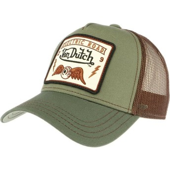 Casquette trucker verte SQUARE6 Von Dutch