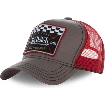 Casquette trucker marron et rouge SQUARE17 Von Dutch