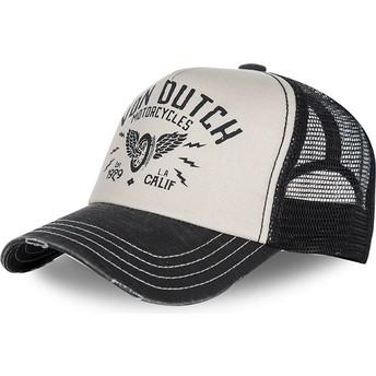 Casquette courbée blanche et noire ajustable CREW2 Von Dutch