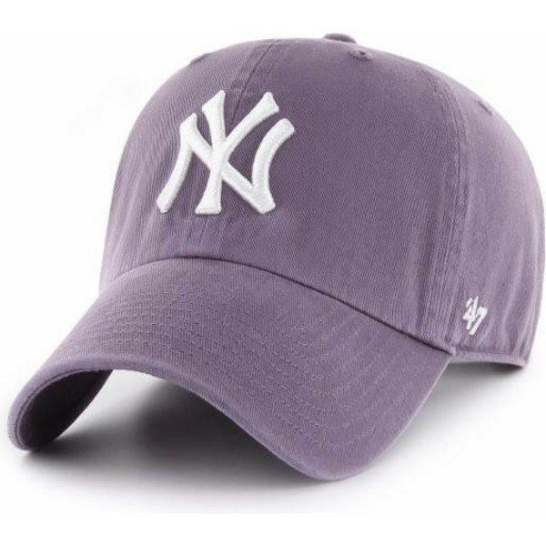 casquette-courbee-violette-new-york-yankees-mlb-clean-up-47-brand