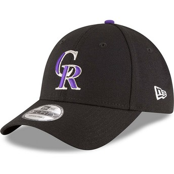 Casquette courbée noire ajustable 9FORTY The League Colorado Rockies MLB New Era