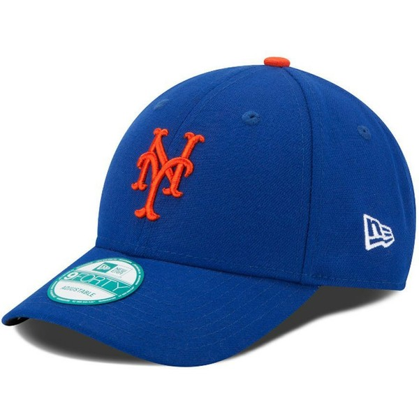 casquette-courbee-bleue-ajustable-9forty-the-league-new-york-mets-mlb-new-era