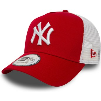 Casquette trucker rouge Clean A Frame 2 New York Yankees MLB New Era