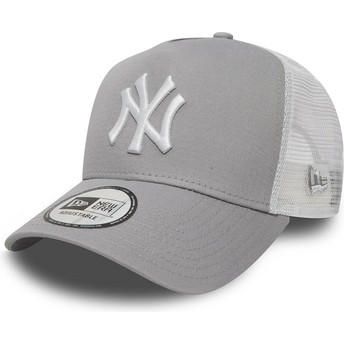 Casquette trucker grise Clean A Frame 2 New York Yankees MLB New Era
