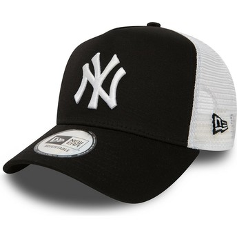 Casquette trucker noire Clean A Frame 2 New York Yankees MLB New Era